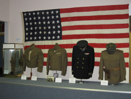 Military uniforms display