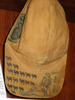 Corporal Paul Robey's decorated hat