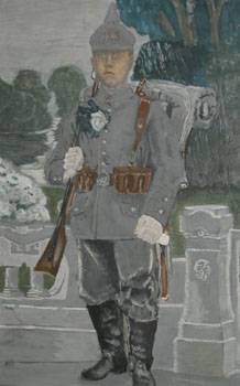 Portrait of German Infantryman Off to War