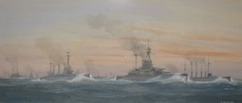 British Grand Fleet, Jutland, 31st May 1916