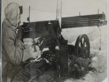 Russian Woman Machine Gunner